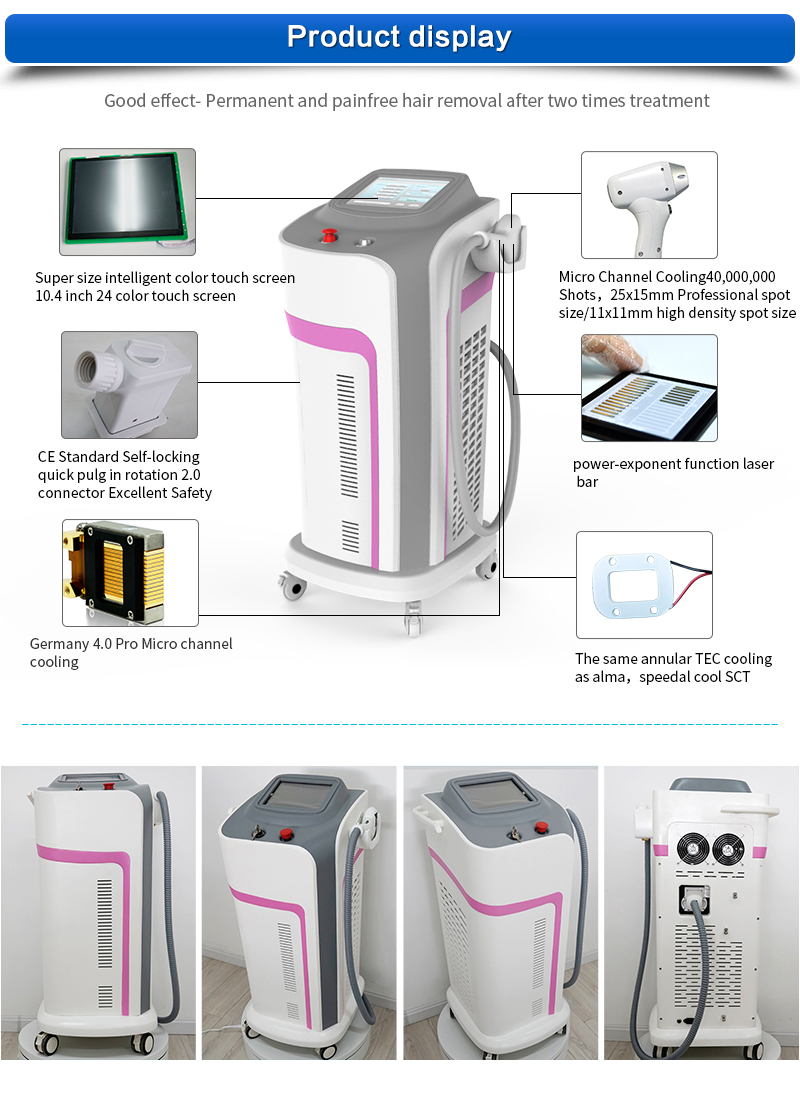 high power 1000w 808nm 755nm combined diode laser hair removal machine for removal removal use