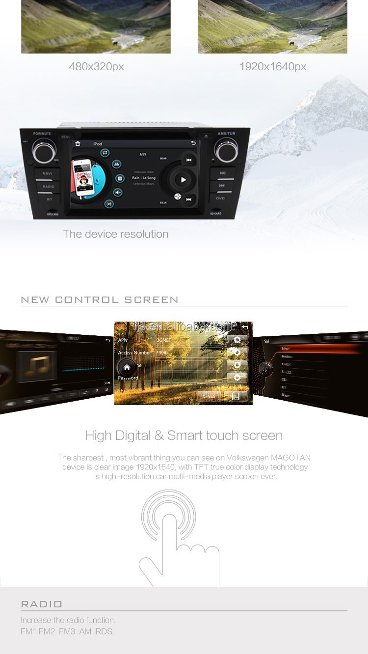 touch screen multimedia system for E90 navigation