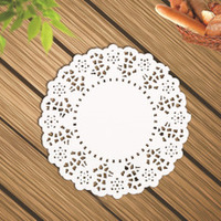 Beautiful round paper placemats plastic doily placemats with good quality