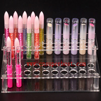 Clear acrylic lipstick organizer with 2 tiers