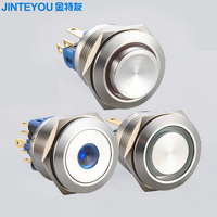 Stainless steel led indicator push button switch