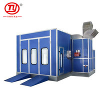 Trade Assurance Professional automatic cabinet spray booth paint booth bake