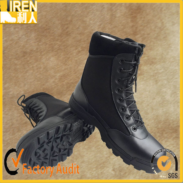 OEM/ODM genuine leather cheap military leather flying boots