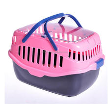 Portable Large Size Flight Pet Plastic Air Cage Transport Dog Air Travel Box In Firm Lock Door Cat Kennel Carrier With Skylight