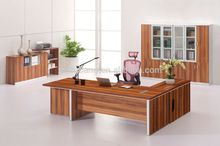 Cheap wooden office table with partition leather top