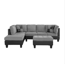 Cream gray L shape sofa for living room home <strong>furniture</strong> corner sofa set