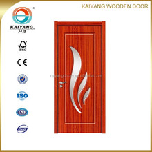 interior pvc mdf wooden glass design door