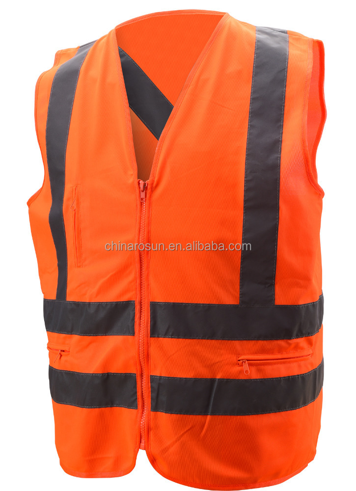 hi vis safety vest traffic accident command vest custom reflective vest with many pockets