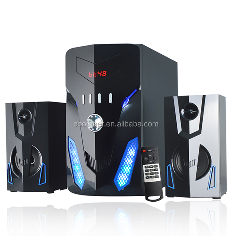 FM Radio USB SD Blutooth Home Theater 2.1 Channel Amplifier PC Computer Speaker 2.1 Subwoofer