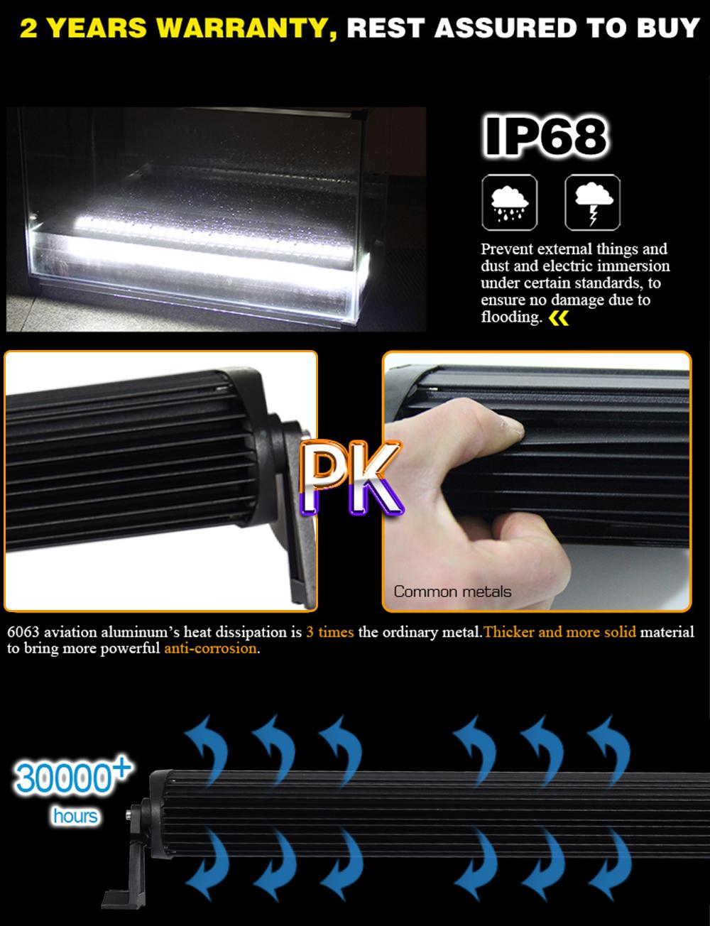 24 pouces 120 W Offroad RGB LED lumière