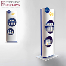 Floor Cosmetic Rack Wood And Acrylic Hand Cream Or Lip Balm Display Stand