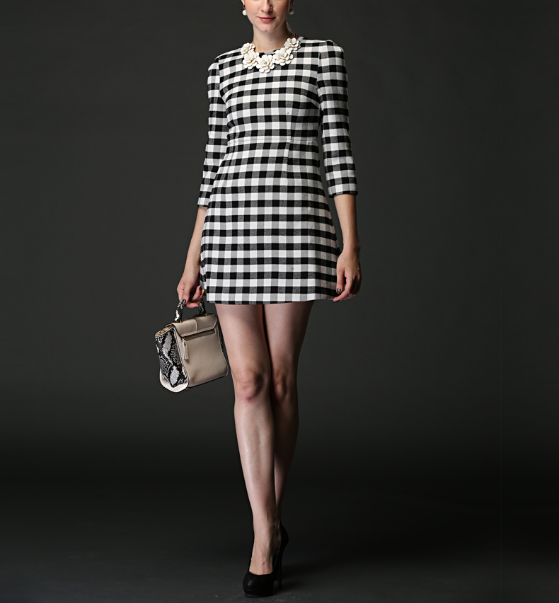 Korean Long Sleeve One-piece Dress Casual Stylish