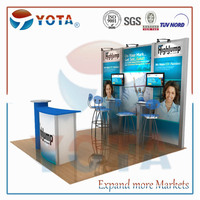 Aluminium trade show display booth 3m*3m
