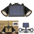 Hot Sales Double solar LED spotlight ,AUTO night light for outdoor