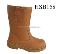knee long stylish oil field/mining line safety work rigger boots for Mongolia market