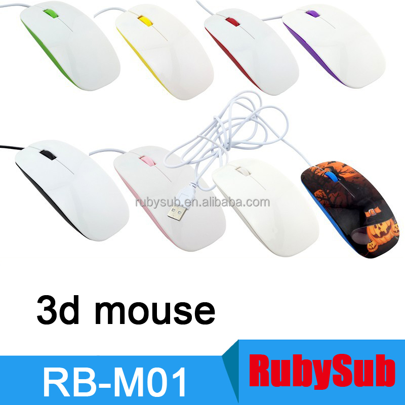 3D Sublimation Blanks Computer Mouse DIY Custom Wired Mouse