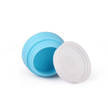 Wholesale squeeze soft silicone/glass jar for face cream