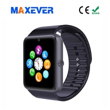Bluetooth 3.0 Support SIM Card 2G GSM Hand Watch Mobilel Phone Price GT08 Smart Watch