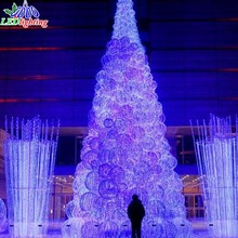 Giant H:8M white outdoor lighted Christmas ball trees led tree