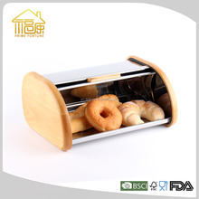 new arrival rubber wooden bread box