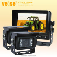 Agricultural machine camera system for tractors, tractor-combinations and harvesting equipment used in agriculture safety vision