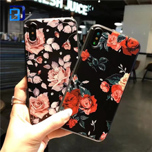2018 Hot Selling And Fashion Flower Painted Soft TPU Mobile Phone Case Cover For IPhone X