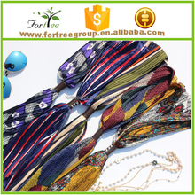 Hot sale lady small silk scarf of chiffon fold print wholesale