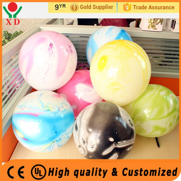 2016 hot sale popular desigh marble balloon colorful latex marble balloon