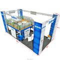 Detian offer 10x20 double deck booth, modular exhibition booth display stand