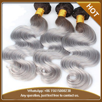 2016 Cheap Wholesale Ombre Hair Waves Ombre Hair Extensions T#1B/gray