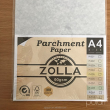 Genuine writing printing parchment paper SGS FSC A4 size 90gsm 100 sheets