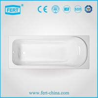 Chinese hot sale low price simple acrylic bathtub manufacturer