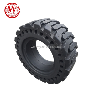 solid 385-65/22.5 tire is better than radial truck tire used for skid steer