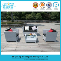 Outdoor Resin Wicker Poly Rattan Garden Furniture Sectional Lounge Sofa