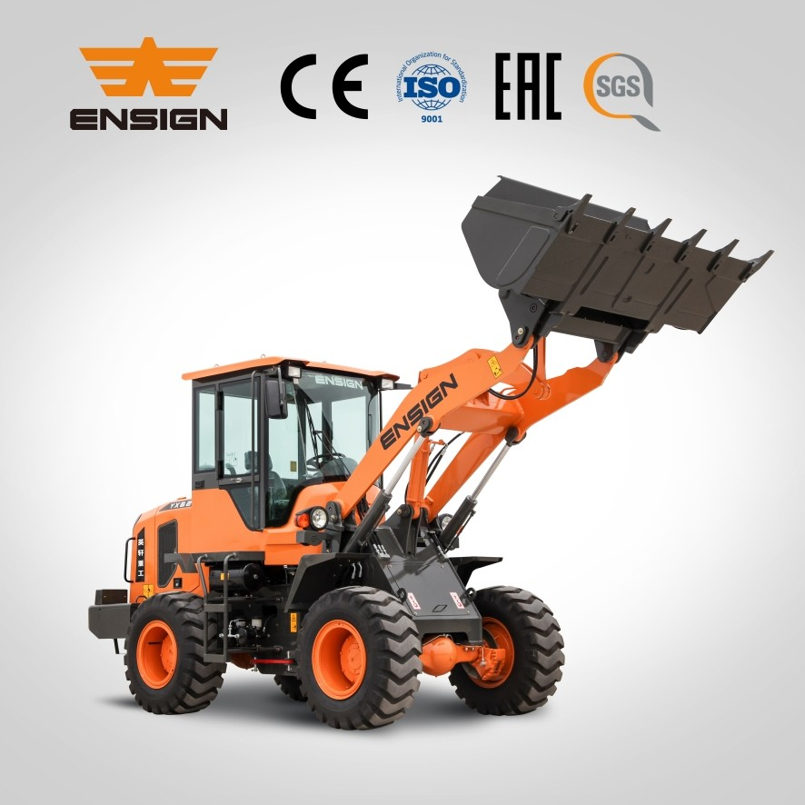 Earth moving equipment ENSIGN brand wheel loader YX620 front small loader with cheap price