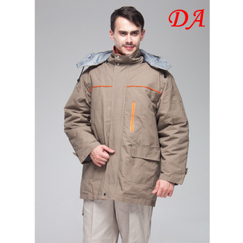 Brown Padded Two Pieces Welder Winter Work Coveralls