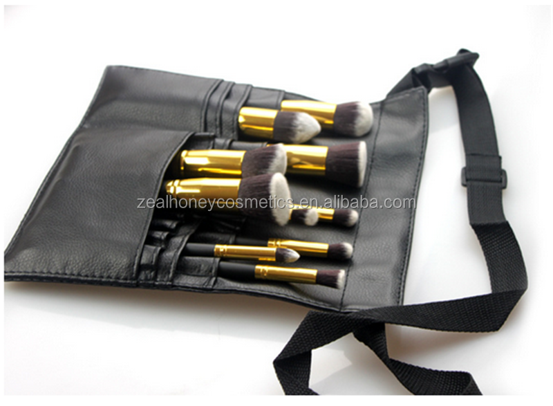 Zealhoney 10pcs makeup brush set Makeup artist cosmetic colorful PU bag