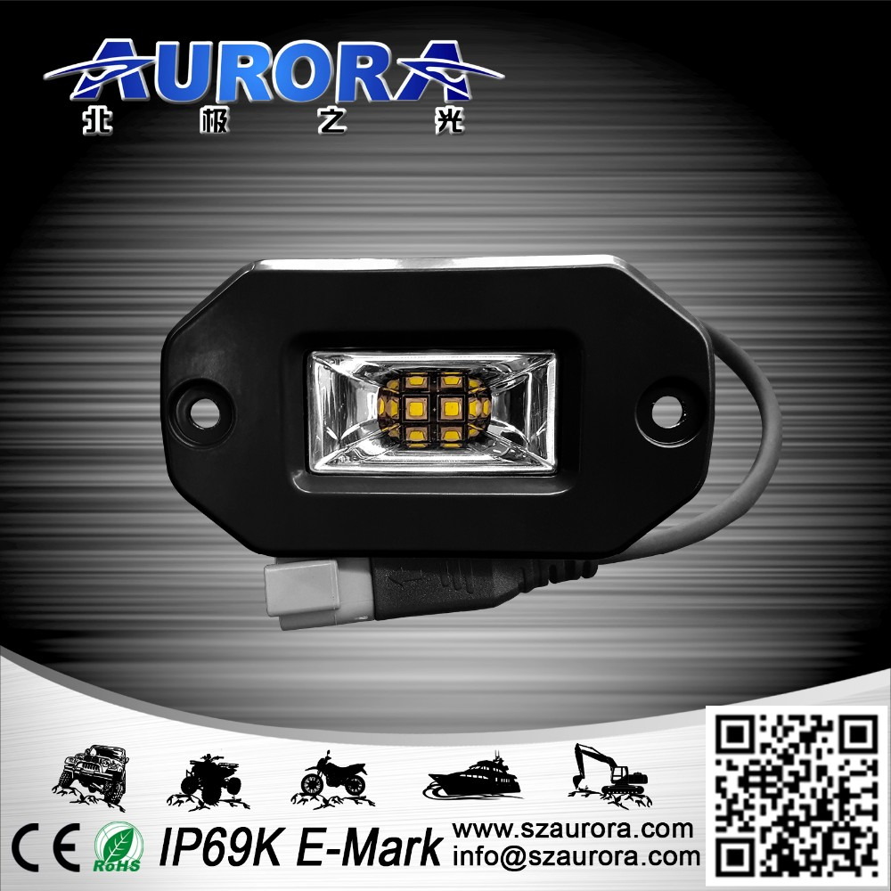 Factory IP69K Waterproof LED scene light 4x4 off road truck with flush mount