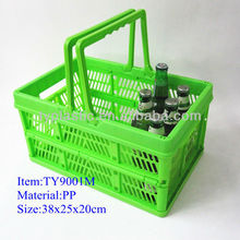 Plastic basket folding Beer basket Picnic basket
