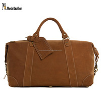 DZ02 Moshi High Fashion Medium Genuine Leather Travel Bag Duffel Holdall Bag Travel Waterproof Duffle for Weekender