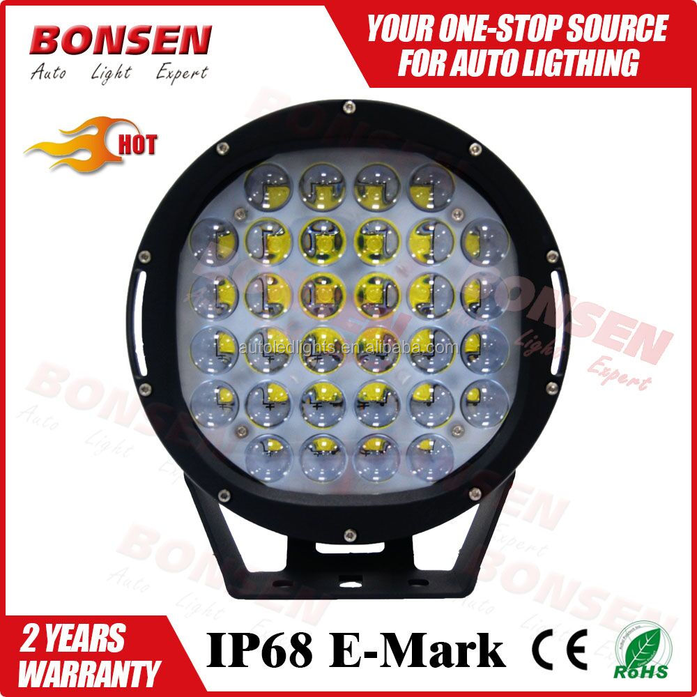 185w led work light 9inch ROUND off road led driving light 185w led car headlight