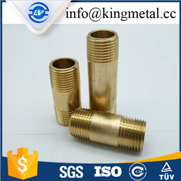 "1/2"" 5cm long brass pipe extension nipple"