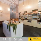Bright cosmetic shop interior design/cosmetic shop furniture/cosmetic display cabinet