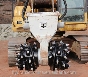 Trencher rotary drum cutter head for 25-60 ton excavators for sale