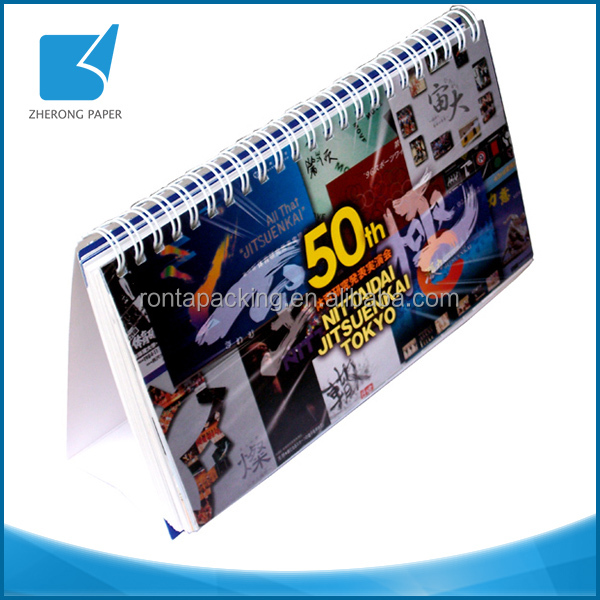 Advertising art paper OEM brand wholesale custom calendar printing