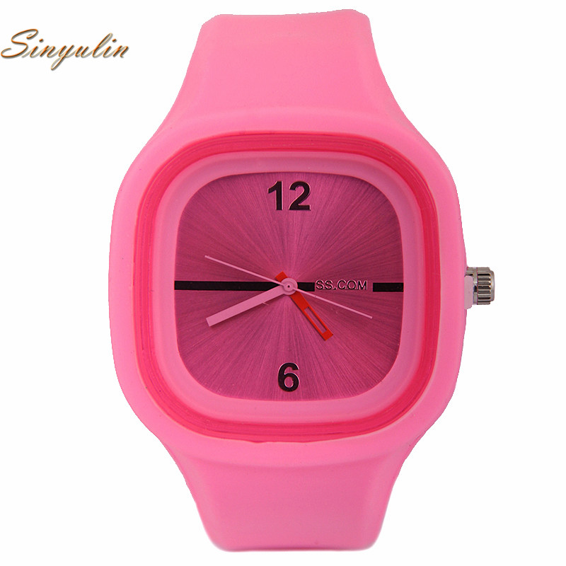Fashion Ladies Silicon Candy Color Digital Square led Watches Kids Bracelet wrist watch China Supplier Factory Children Watches