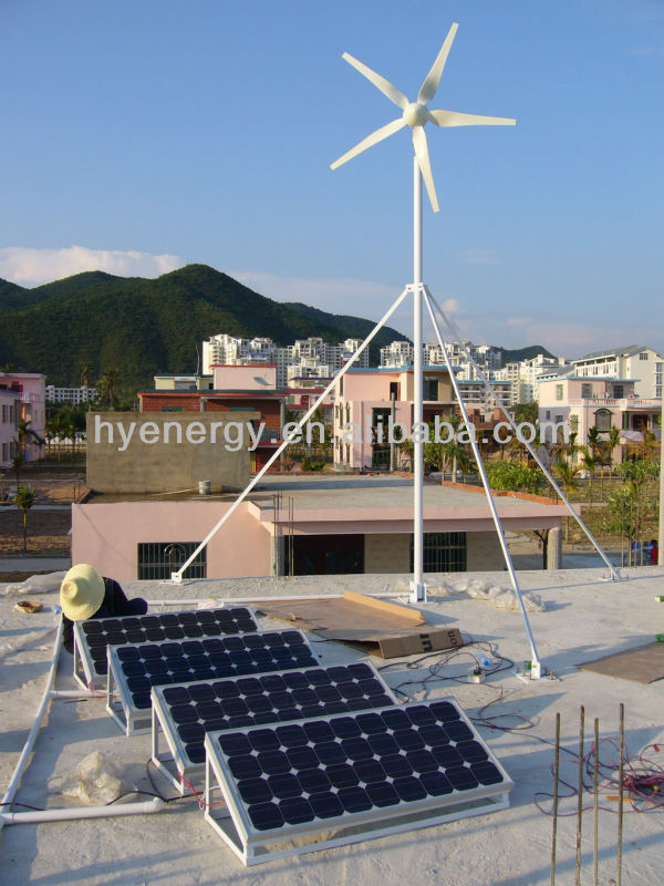 Wind Solar Energy System 1KW on-grid & off-grid system for sale