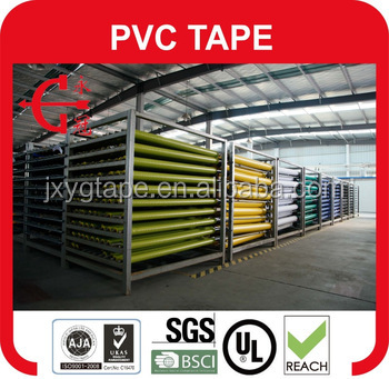 pvc insulation tape log roll/pvc electrical tape jumbo roll/rolls of insulation tape