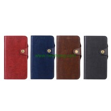 Luxury Crazy Horse Pattern Detachable Magnetic Buckle Flip Pu Leather case For Iphone X