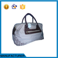 new style print travelling canvas bag&handbag from professional manufacturer